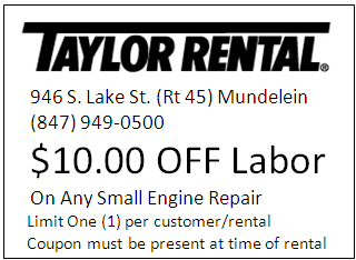 Taylor rental center of mundelein party rentals equipment we sell service and recommend fandeluxe Choice Image
